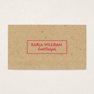 Cartão De Visitas Luz - acento marrom do vermelho carmesim do papel