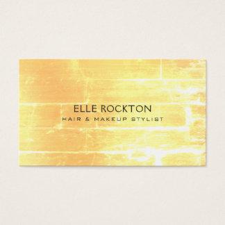 Cartão De Visitas Luz amarela minimalista do tijolo de Vendredi