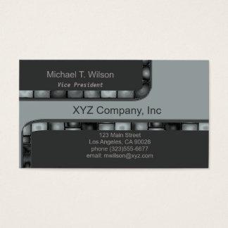 Cartão De Visitas Luz - beira de prata cinzenta do azulejo