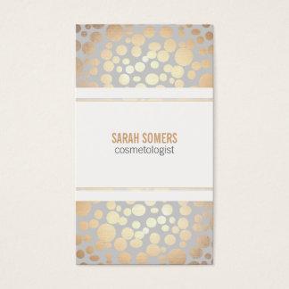 Cartão De Visitas Luz da folha de ouro do falso da cosmetologia -