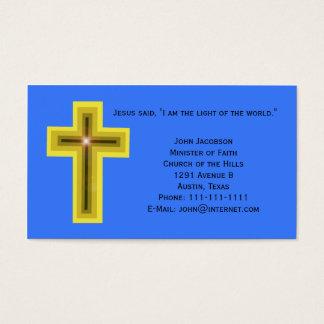 Cartão De Visitas Luz do cristão da cruz do mundo