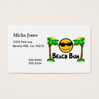 Cartão De Visitas Luz do sol & palmeiras do vagabundo da praia