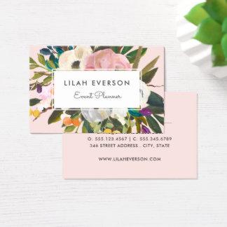 Cartão De Visitas Luz floral pintada | botânica da felicidade |