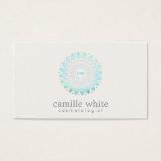 Cartão De Visitas Luz Monogrammed da cosmetologia - motivo