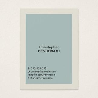 Cartão De Visitas Luz simples moderna - consultante do cinza azul