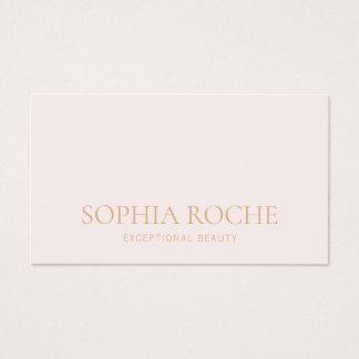 Cartão De Visitas Luz simples - salão de beleza & termas cor-de-rosa