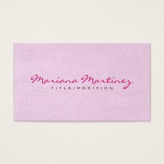 Cartão De Visitas Luz - textura cor-de-rosa do olhar do couro do