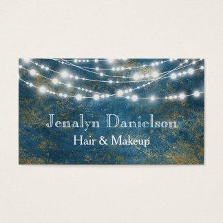 Cartão De Visitas Luzes de suspensão festivas elegantes da corda do