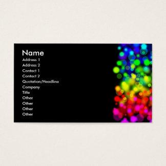 Cartão De Visitas Luzes do arco-íris