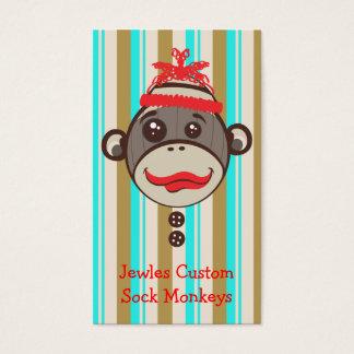 Cartão De Visitas Macaco louco Etsy Desinger da peúga do chapéu