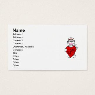 Cartão De Visitas Macaco que da peúga eu amo nutrir t-shirt e