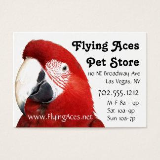 Cartão De Visitas Macaw verde da asa