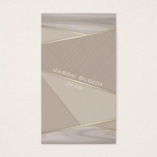 Cartão De Visitas Madeira e ouro