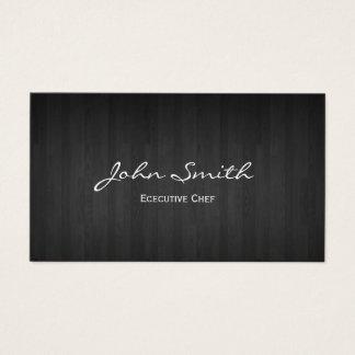 Cartão De Visitas Madeira escura elegante do cozinheiro chefe