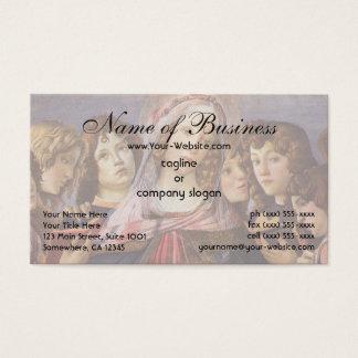 Cartão De Visitas Madonna e criança com anjos por Sandro Botticelli