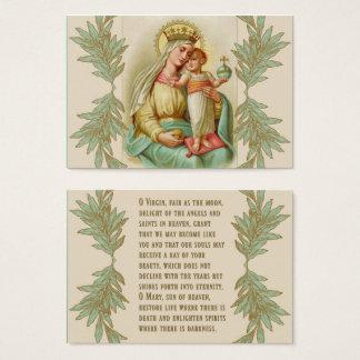 Cartão De Visitas Mãe abençoada que guardara o globo de Jesus da