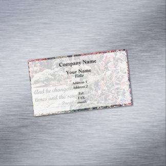 Cartão De Visitas Magnético 2:21 de Daniel - e ele Changeth