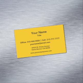 Cartão De Visitas Magnético A cor sólida ambarina personaliza-o