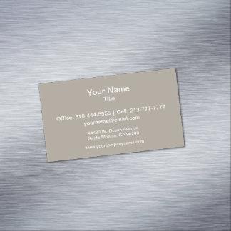Cartão De Visitas Magnético A cor sólida de Greige personaliza-o