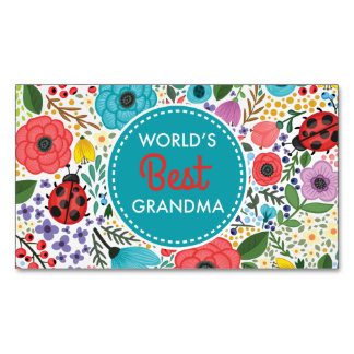 Cartão De Visitas Magnético A melhor avó do mundo