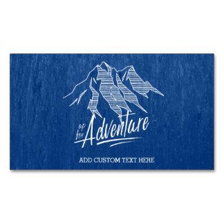 Cartão De Visitas Magnético Acima para das montanhas ID358 branco da aventura