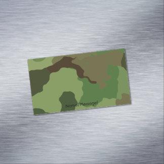 Cartão De Visitas Magnético As forças armadas tradicionais camuflam