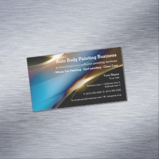 Cartão De Visitas Magnético Auto corpo que pinta o profissional moderno de |