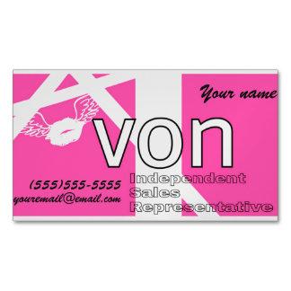 Cartão De Visitas Magnético Avon cor-de-rosa personalizado