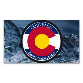 Cartão De Visitas Magnético Bandeira da circular de Colorado