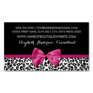 Cartão De Visitas Magnético Boutique cor-de-rosa escuro Vivacious do impressão