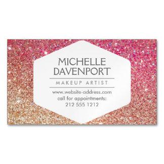 Cartão De Visitas Magnético Bronze elegante/cartão de visita magnético brilho