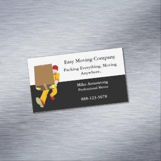 Cartão De Visitas Magnético Caixa do motor da empresa de mudanças