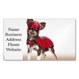 Cartão De Visitas Magnético Cão do libre de Lucha, chihuahua engraçada,