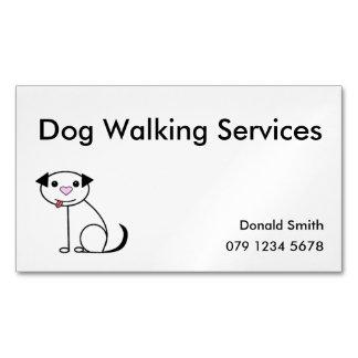 Cartão De Visitas Magnético Cartão de visita do caminhante do cão