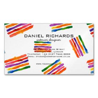 Cartão De Visitas Magnético Cartão de visita do designer de interiores da