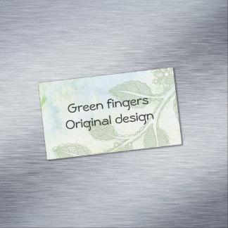 Cartão De Visitas Magnético Cartão de visita dos dedos verdes