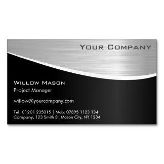 Cartão De Visitas Magnético Cartão de visita magnético de aço inoxidável preto