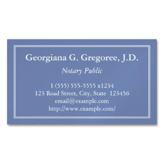 Cartão De Visitas Magnético Cartão de visita magnético do notário customizável