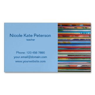Cartão De Visitas Magnético cartão de visita magnético do professor