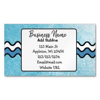 Cartão De Visitas Magnético Cartão magnético da informação azul do negócio dos