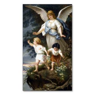 Cartão De Visitas Magnético Cartão santamente magnético do anjo-da-guarda