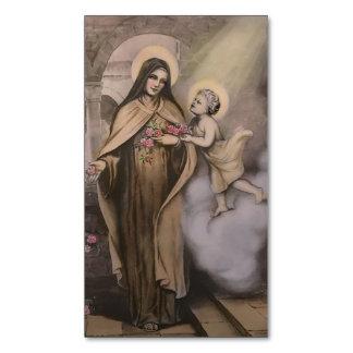 Cartão De Visitas Magnético Cartão santamente magnético do St. Therese (bloco