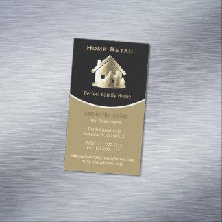Cartão De Visitas Magnético Casa familiar perfeita do mediador imobiliário