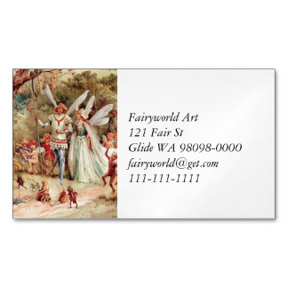 Cartão De Visitas Magnético Casamento feericamente