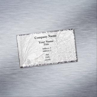 Cartão De Visitas Magnético Cena do inverno