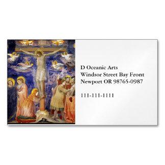 Cartão De Visitas Magnético Cena medieval da Sexta-feira Santa