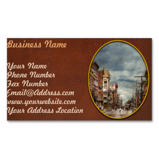 Cartão De Visitas Magnético Cidade - NY - o mercado nunca em mudança 1906