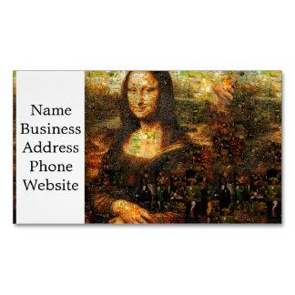 Cartão De Visitas Magnético colagem de Mona lisa - mosaico de Mona lisa - Mona