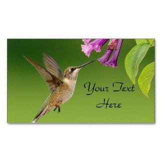 Cartão De Visitas Magnético Colibri e flor