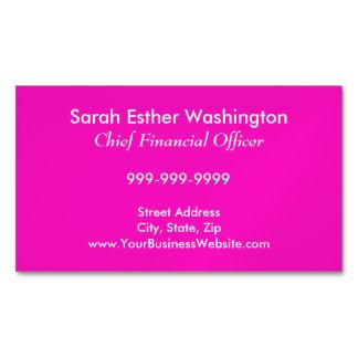 Cartão De Visitas Magnético Cor cor-de-rosa Stunningly Vivacious
